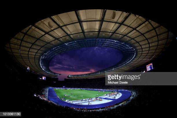 General view inside the stadium during day two of the 24th European Athletics Championships at Olympiastadion on August 8 2018 in Berlin Germany This...