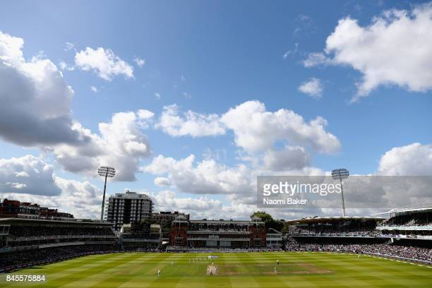General view inside the stadium during England v West Indies 3rd Investec Test Day Three at Lord's Cricket Ground on September 9 2017 in London...