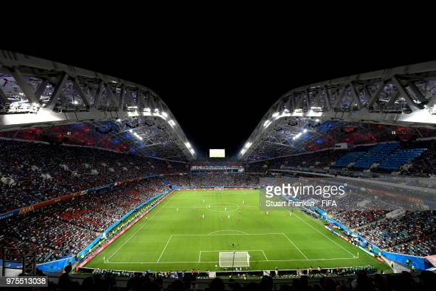 General view inside the stadium during the 2018 FIFA World Cup Russia group B match between Portugal and Spain at Fisht Stadium on June 15 2018 in...