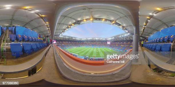 General view inside the stadium during the 2018 FIFA World Cup Russia group E match between Brazil and Switzerland at Rostov Arena on June 17 2018 in...