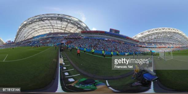 General view inside the stadium during the 2018 FIFA World Cup Russia group G match between Belgium and Panama at Fisht Stadium on June 18 2018 in...
