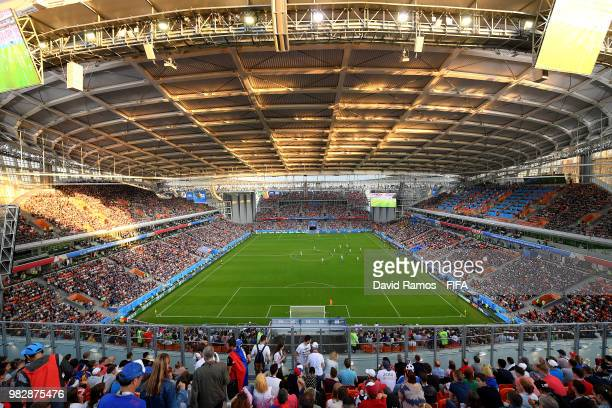 General view inside the stadium during the 2018 FIFA World Cup Russia group H match between Japan and Senegal at Ekaterinburg Arena on June 24 2018...