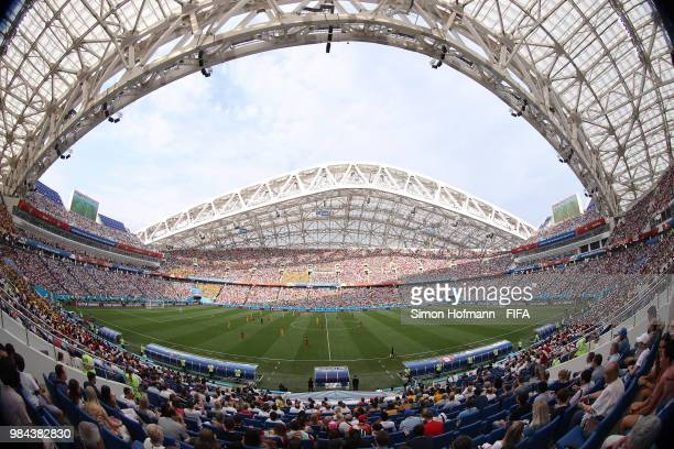 General view inside the stadium during the 2018 FIFA World Cup Russia group C match between Australia and Peru at Fisht Stadium on June 26 2018 in...