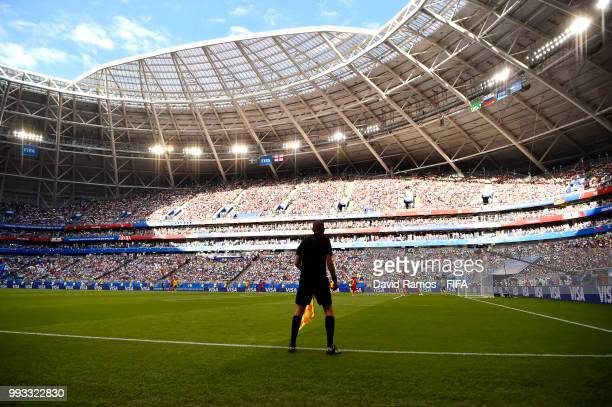 General view inside the stadium during the 2018 FIFA World Cup Russia Quarter Final match between Sweden and England at Samara Arena on July 7 2018...