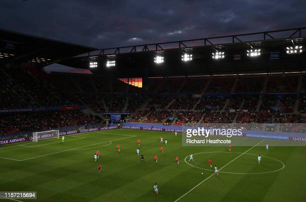 General view inside the stadium during the 2019 FIFA Women's World Cup France group F match between Thailand and Chile at Roazhon Park on June 20...