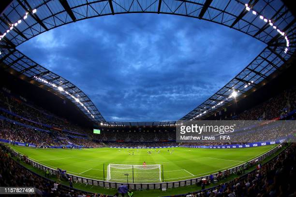 General view inside the stadium during the 2019 FIFA Women's World Cup France Round Of 16 match between France and Brazil at Stade Oceane on June 23...