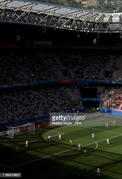 General view inside the stadium during the 2019 FIFA Women's World Cup France 3rd Place Match match between England and Sweden at Stade de Nice on...