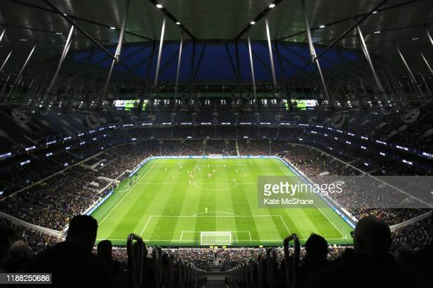 A general view inside the stadium during the Barclays FA Women's Super League match between Tottenham Hotspur and Arsenal at Tottenham Hotspur...