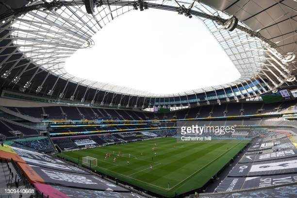 General view inside the stadium during the Barclays FA Women's Super League match between Tottenham Hotspur Women and Arsenal Women at Tottenham...