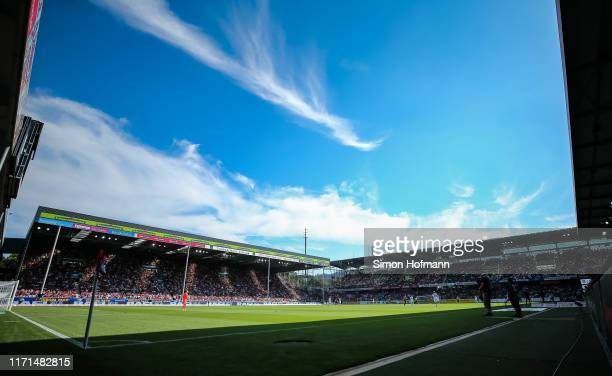 General view inside the stadium during the Bundesliga match between Sport-Club Freiburg and 1. FC Koeln at Schwarzwald-Stadion on August 31, 2019 in...