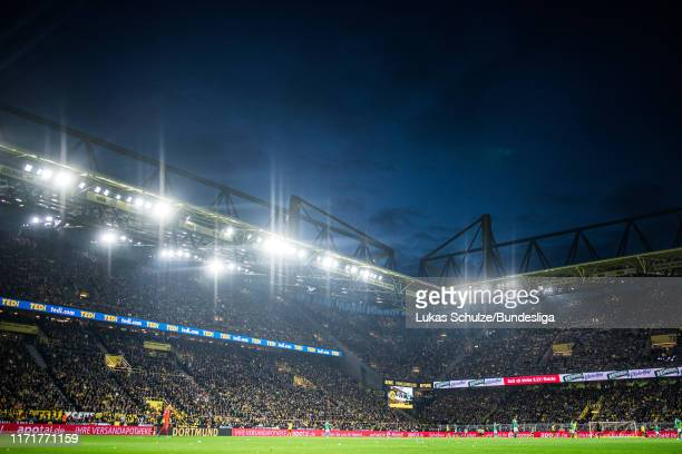 General view inside the stadium during the Bundesliga match between Borussia Dortmund and SV Werder Bremen at Signal Iduna Park on September 28, 2019...