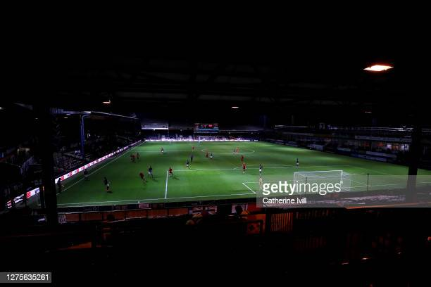 General view inside the stadium during the Carabao Cup Third Round match between Luton Town and Manchester United at Kenilworth Road on September 22,...