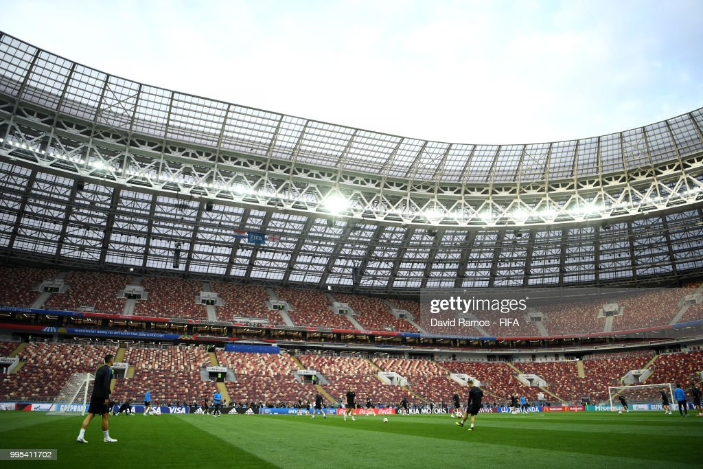 Croatia Training Session and Press Conference - 2018 FIFA World Cup Russia : Nachrichtenfoto