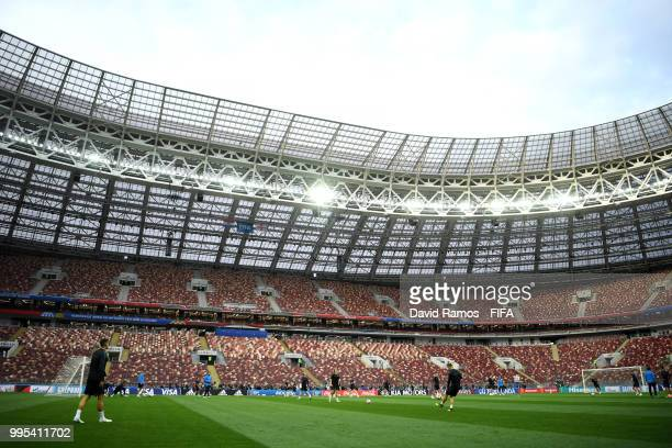 General view inside the stadium during the Croatia Training Session at the Luzhniki Stadium on July 10 2018 in Moscow Russia