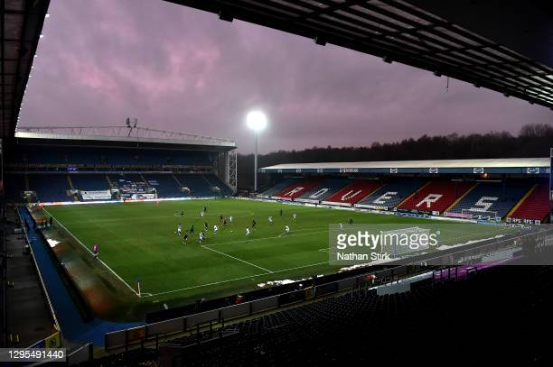 General view inside the stadium during the FA Cup Third Round match between Blackburn Rovers and Doncaster Rovers at Ewood Park on January 09, 2021...