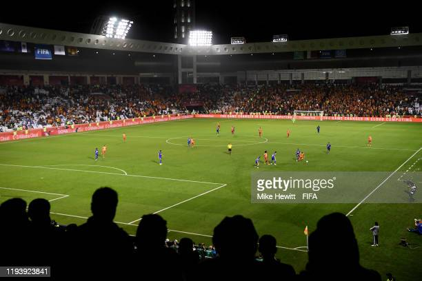 General view inside the stadium during the FIFA Club World Cup 2nd round match between Al Hilal and Esperance Sportive de Tunis at Jassim Bin Hamad...