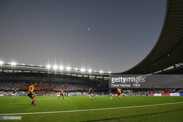 General view inside the stadium during the FIFA Club World Cup UAE 2018 5th Place Match between ES Tunis and CD Guadalajara at Hazza Bin Zayed...