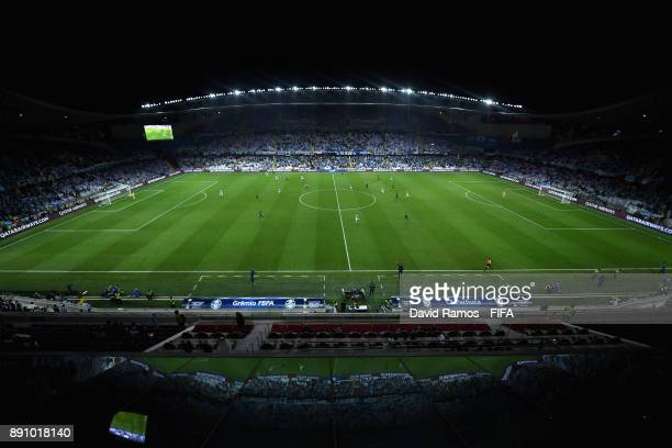 General view inside the stadium during the FIFA Club World Cup UAE 2017 semifinal match between Gremio FBPA and CF Pachuca on December 12 2017 at the...