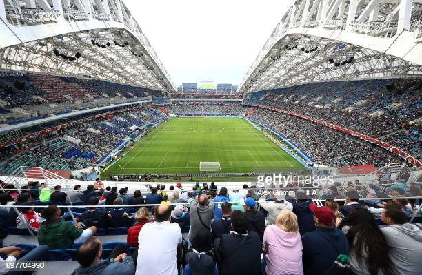 General view inside the stadium during the FIFA Confederations Cup Russia 2017 Group B match between Australia and Germany at Fisht Olympic Stadium...