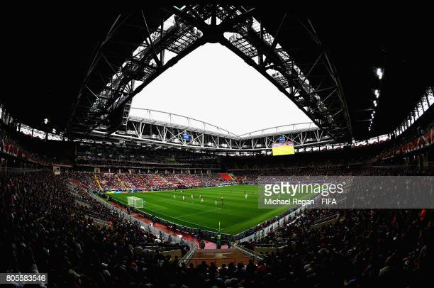 General view inside the stadium during the FIFA Confederations Cup Russia 2017 PlayOff for Third Place between Portugal and Mexico at Spartak Stadium...