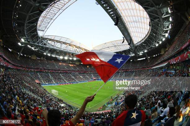 General view inside the stadium during the FIFA Confederations Cup Russia 2017 Final between Chile and Germany at Saint Petersburg Stadium on July 2,...