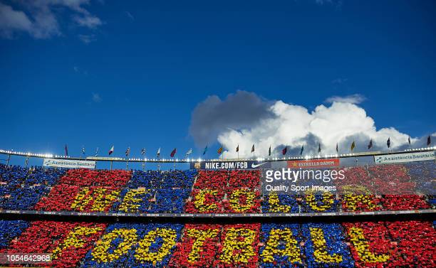 A general view inside the stadium during the La Liga match between FC Barcelona and Real Madrid CF at Camp Nou on October 28 2018 in Barcelona Spain