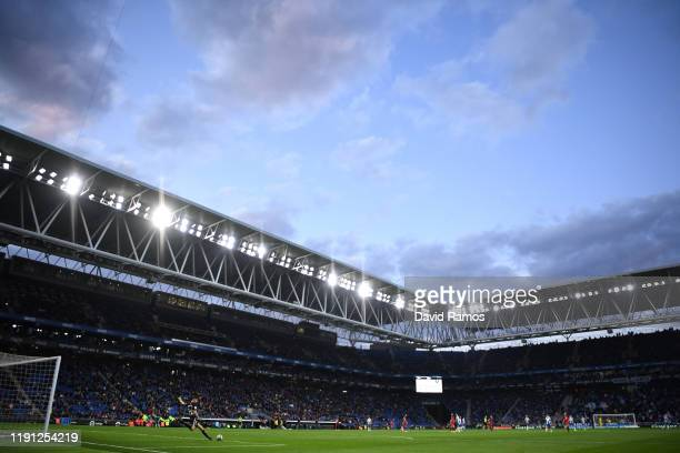 General view inside the stadium during the La Liga match between RCD Espanyol and CA Osasuna at RCDE Stadium on December 01 2019 in Barcelona Spain