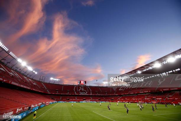 General view inside the stadium during the La Liga Santander match between Sevilla FC and Levante UD at Estadio Ramon Sanchez Pizjuan on October 01,...