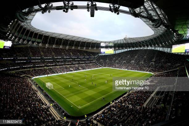 General view inside the stadium during the Legends match between Spurs Legends and Inter Forever at Tottenham Hotspur Stadium on March 30, 2019 in...