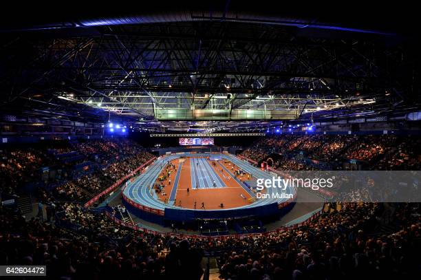 General view inside the stadium during the Muller Indoor Grand Prix 2017 at Barclaycard Arena on February 18 2017 in Birmingham England