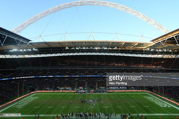 A general view inside the stadium during the NFL International Series match between Philadelphia Eagles and Jacksonville Jaguars at Wembley Stadium...