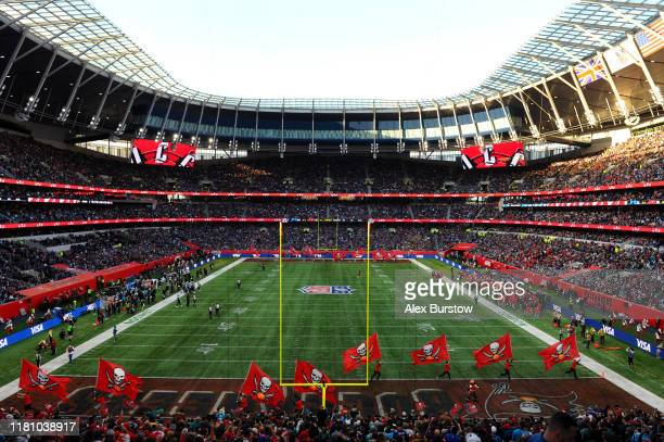 General view inside the stadium during the NFL match between the Carolina Panthers and Tampa Bay Buccaneers at Tottenham Hotspur Stadium on October...
