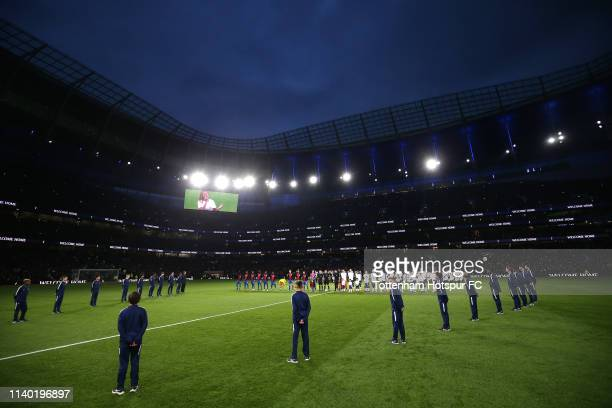 General view inside the stadium during the Opening Ceremony of the Tottenham Hotspur Stadium prior to the the Premier League match between Tottenham...