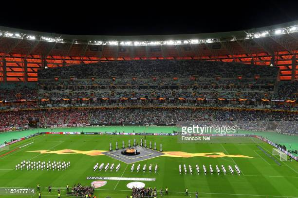 General view inside the stadium during the Opening Ceremony prior to the UEFA Europa League Final between Chelsea and Arsenal at Baku Olimpiya...