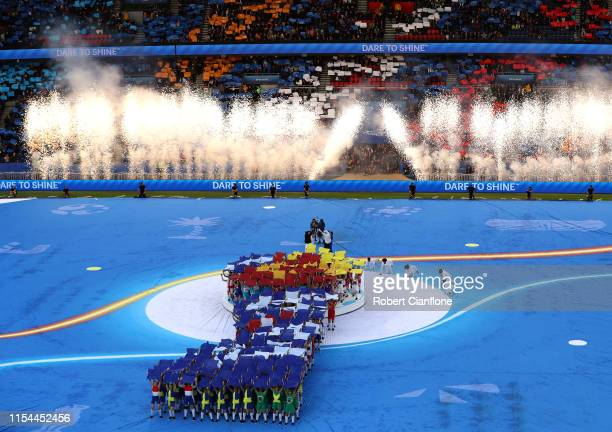 General view inside the stadium during the opening ceremony prior to the 2019 FIFA Women's World Cup France group A match between France and Korea...