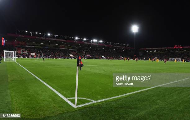 A general view inside the stadium during the Premier League match between AFC Bournemouth and Brighton and Hove Albion at Vitality Stadium on...