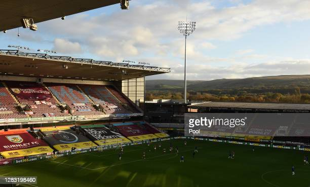 General view inside the stadium during the Premier League match between Burnley and Chelsea at Turf Moor on October 31, 2020 in Burnley, England....