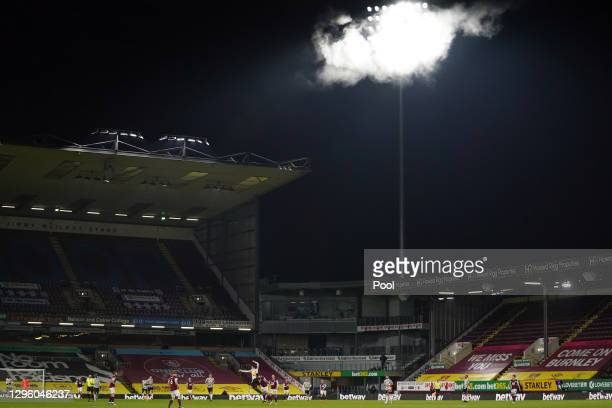 General view inside the stadium during the Premier League match between Burnley and Manchester United at Turf Moor on January 12, 2021 in Burnley,...