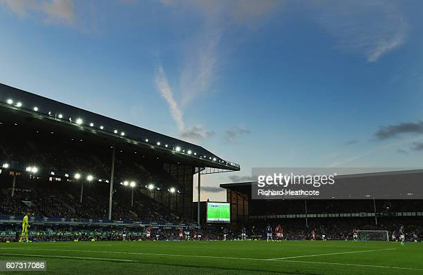 A general view inside the stadium during the Premier League match between Everton and Middlesbrough at Goodison Park on September 17 2016 in...