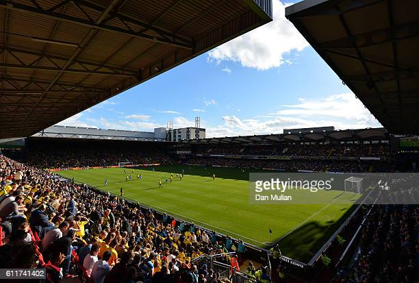 General view inside the stadium during the Premier League match between Watford and AFC Bournemouth at Vicarage Road on October 1 2016 in Watford...