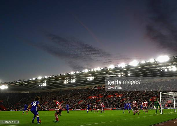 General view inside the stadium during the Premier League match between Southampton and Chelsea at St Mary's Stadium on October 30 2016 in...