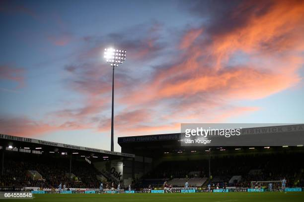 General view inside the stadium during the Premier League match between Burnley and Stoke City at Turf Moor on April 4, 2017 in Burnley, England.