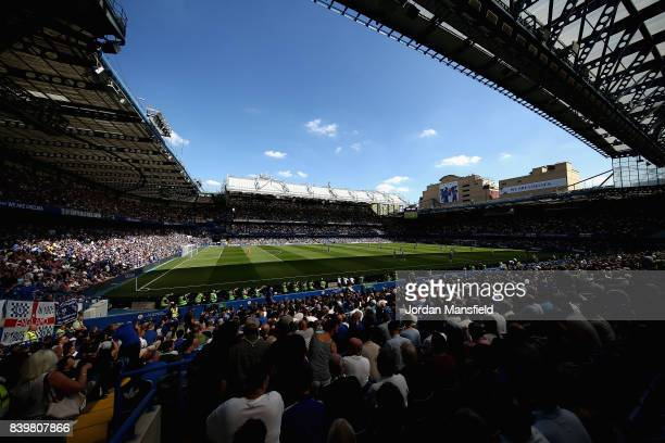 General view inside the stadium during the Premier League match between Chelsea and Everton at Stamford Bridge on August 27 2017 in London England