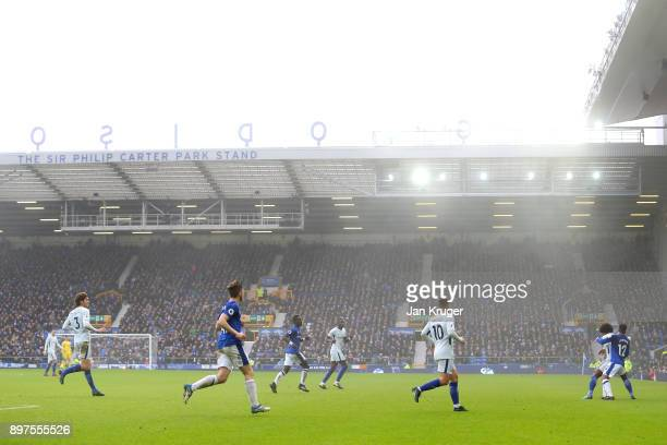 General view inside the stadium during the Premier League match between Everton and Chelsea at Goodison Park on December 23 2017 in Liverpool England