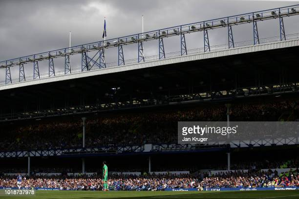 General view inside the stadium during the Premier League match between Everton FC and Southampton FC at Goodison Park on August 18 2018 in Liverpool...