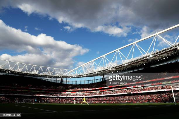 A general view inside the stadium during the Premier League match between Arsenal FC and Everton FC at Emirates Stadium on September 23 2018 in...