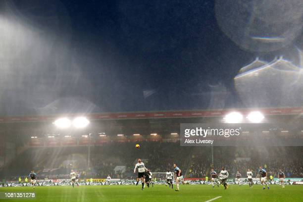 General view inside the stadium during the Premier League match between Burnley FC and Fulham FC at Turf Moor on January 12 2019 in Burnley United...