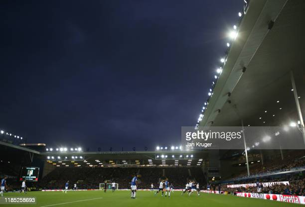 General view inside the stadium during the Premier League match between Everton FC and Tottenham Hotspur at Goodison Park on November 03 2019 in...