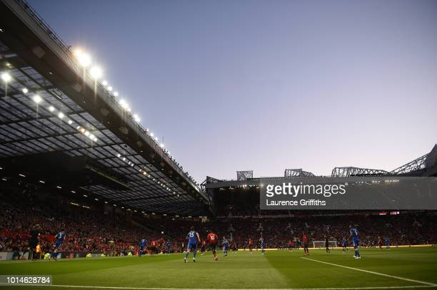 A general view inside the stadium during the Premier League match between Manchester United and Leicester City at Old Trafford on August 10 2018 in...