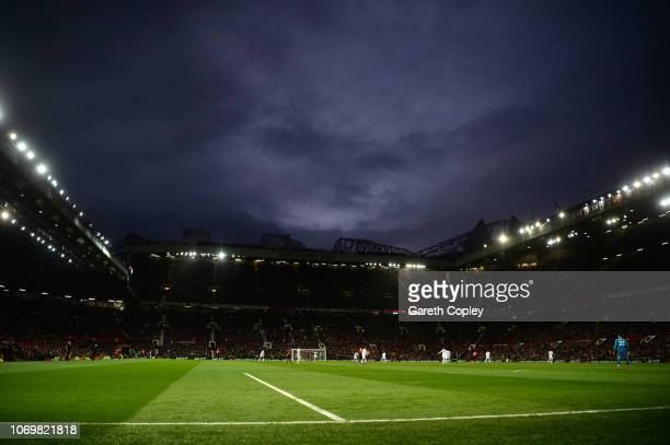 General view inside the stadium during the Premier League match between Manchester United and Fulham FC at Old Trafford on December 8 2018 in...